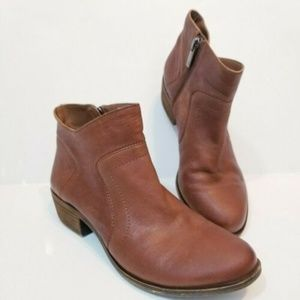 Lucky Brand Wmn LP Brolley Brown Leather Booties